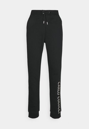 JOGGER LOGO LEFT LEG - Tracksuit bottoms - black