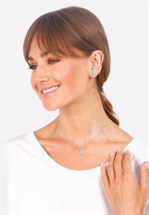 JEWELRY SET FLOWER - Earrings - silberfarben