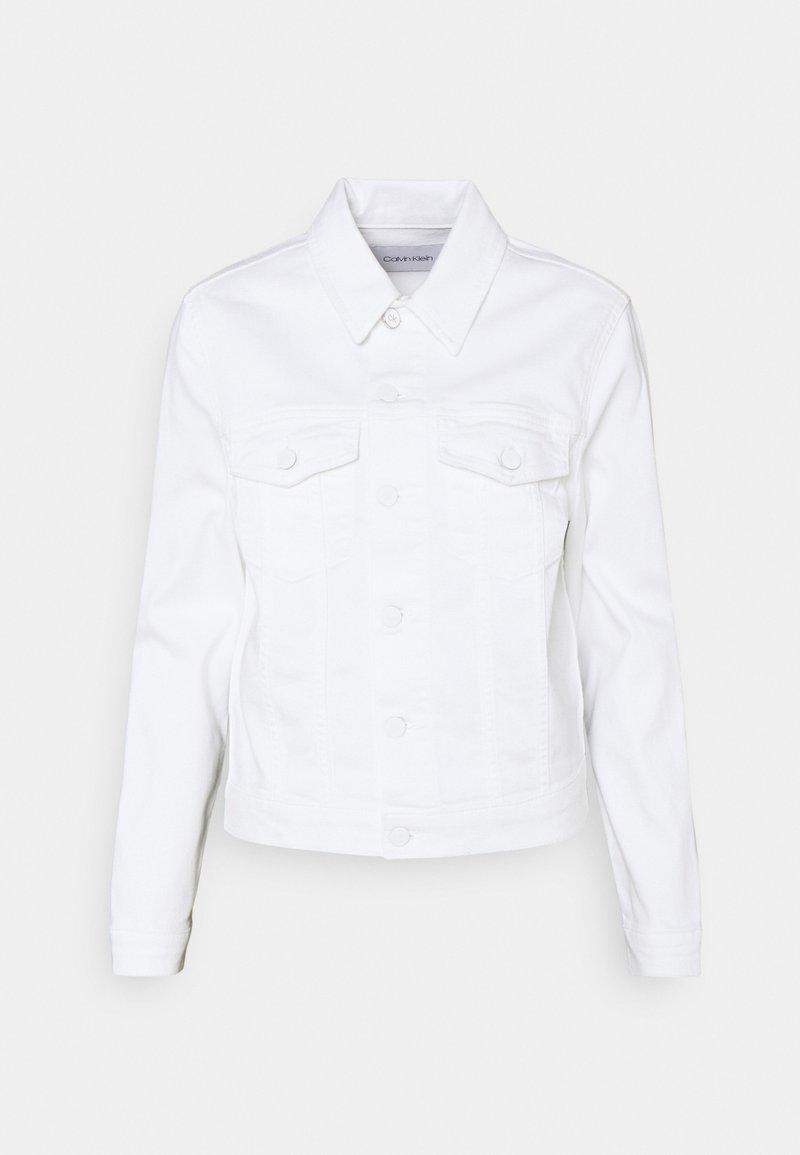 Calvin Klein - DENIM TRUCKER JACKET - Denim jacket - white