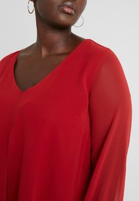 Evans - SPLIT FRONT SHIRRED CUFF - Blouse - red - 4