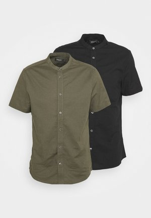 SHORT SLEEVE OXFORD GRANDAD 2 PACK - Skjorta - black
