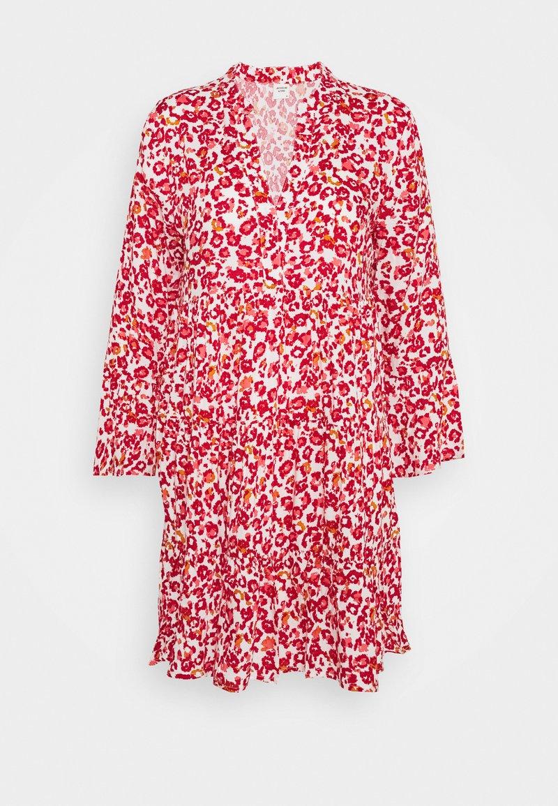 JDY - JDYCHAR DRESS - Day dress - cloud dancer/red