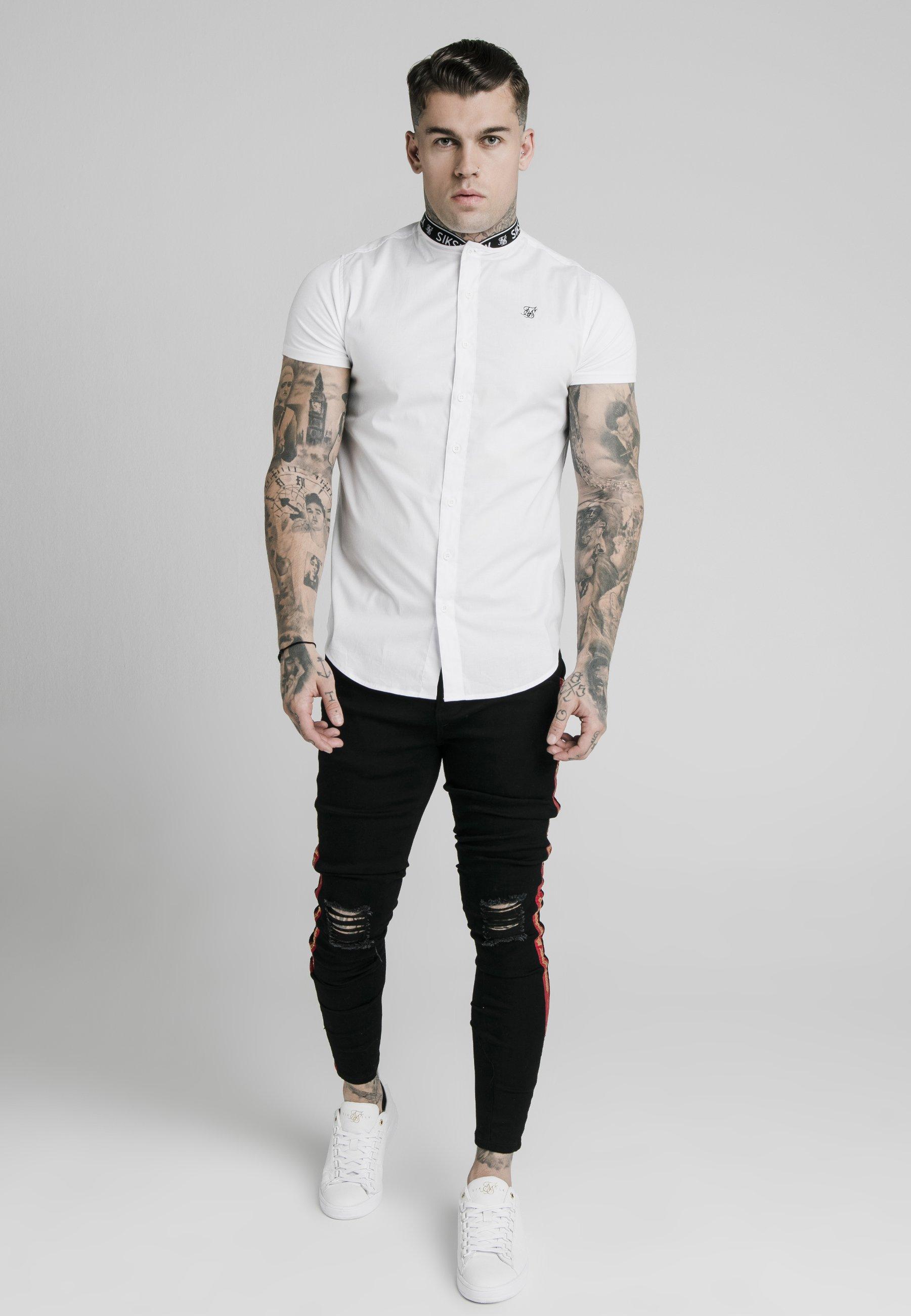 SIKSILK STRETCH Skjorte white Zalando.no