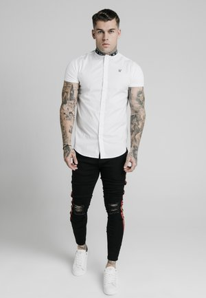 TAPE COLLAR - Shirt - white