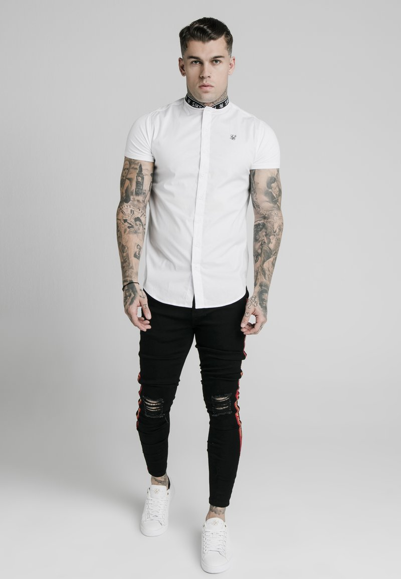 SIKSILK - TAPE COLLAR - Camisa - white