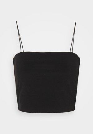 SPAGHETTI STRAP CROPPED SINGLET - Top - black