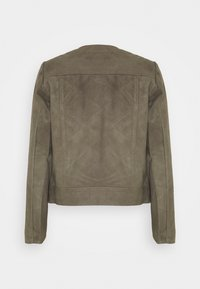 Selected Femme - SLFMONAY SUEDE JACKET - Leather jacket - granite grey - 1