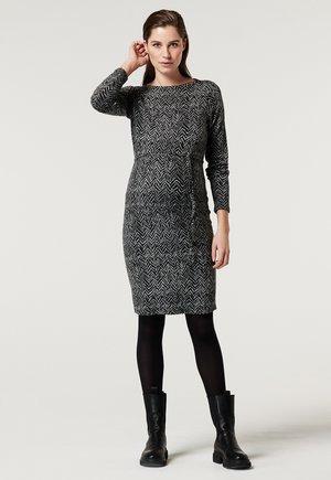V-PRINT - Day dress - grey melange