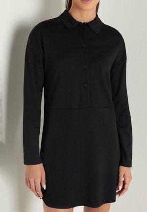 LANGARM - Jersey dress - black