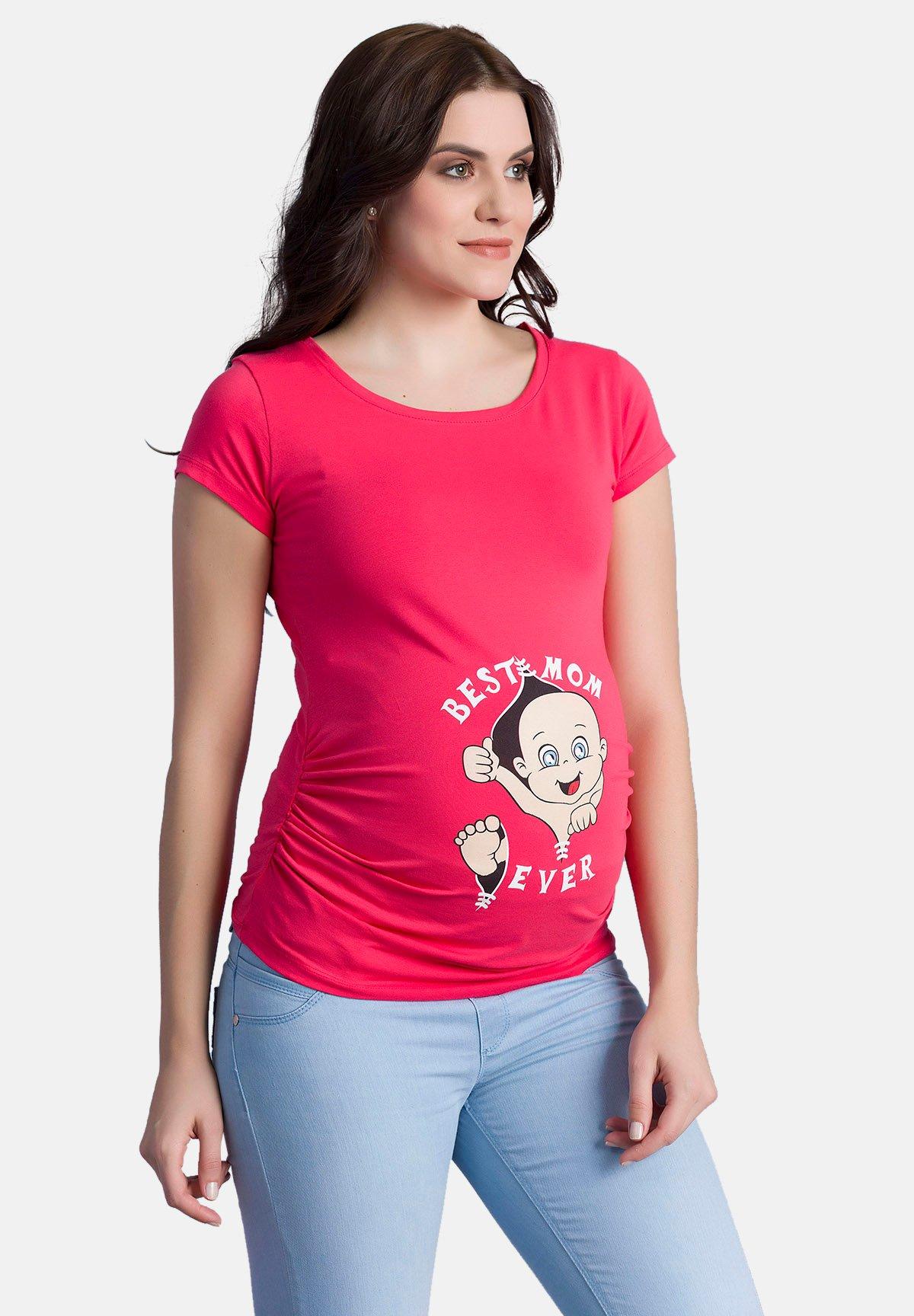 Damen MIT MOTIV BEST MOM EVER - T-Shirt print