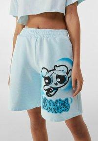 Bershka - POWERPUFF GIRLS - Shorts - light blue - 0