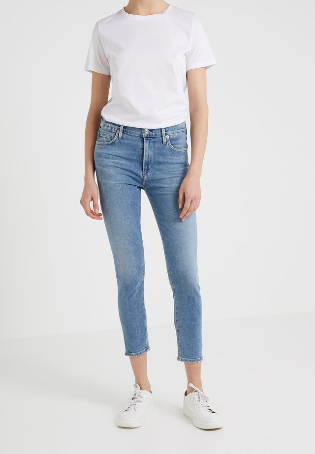 ROCKET CROP - Jeans Skinny Fit - serenity