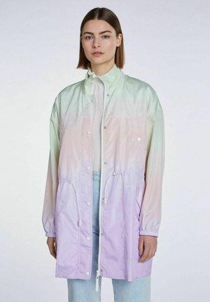 Regenjas - lilac yellow