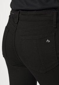 rag & bone - NINA HIGH RISE ANKLE FLARE - Flared Jeans - black - 4