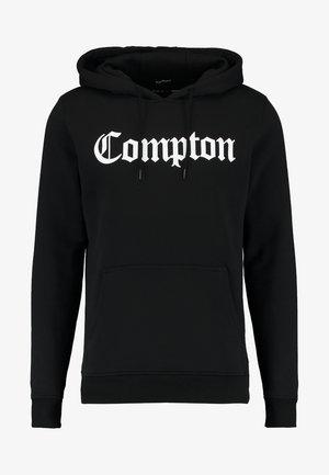 COMPTON  - Felpa con cappuccio - black