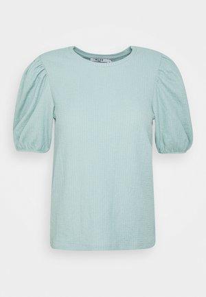 PUFF SLEEVE - Print T-shirt - dusty blue