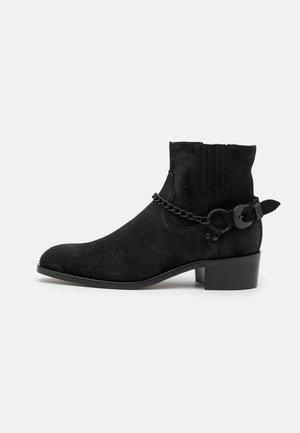 SORICK - Kovbojské/motorkářské boty - black