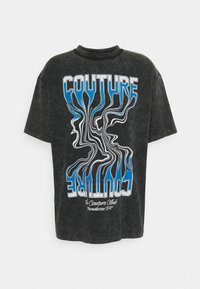 The Couture Club - WAVE GRAPHIC - Print T-shirt - black enzyme wash - 0