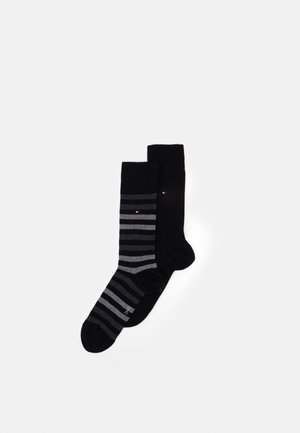 MEN DUO STRIPE SOCK 2 PACK - Socks - black