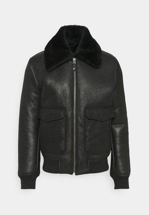PILOT - Kožená bunda - black