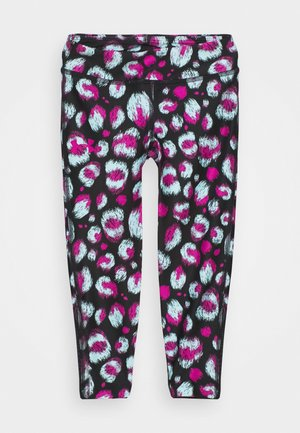 PRINTED ANKLE CROP - Leggings - black