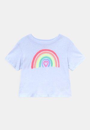 GIRLS BOXY - Print T-shirt - sunrise blue