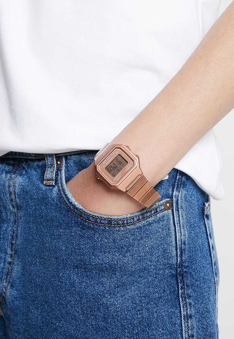 Casio - Digital watch - rose gold-coloured