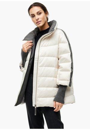 MIT GROSSEM KRAGEN - Down jacket - offwhite