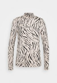 Vila - VIBULIS ZEBRA FUNNELNECK - Long sleeved top - simply taupe - 0