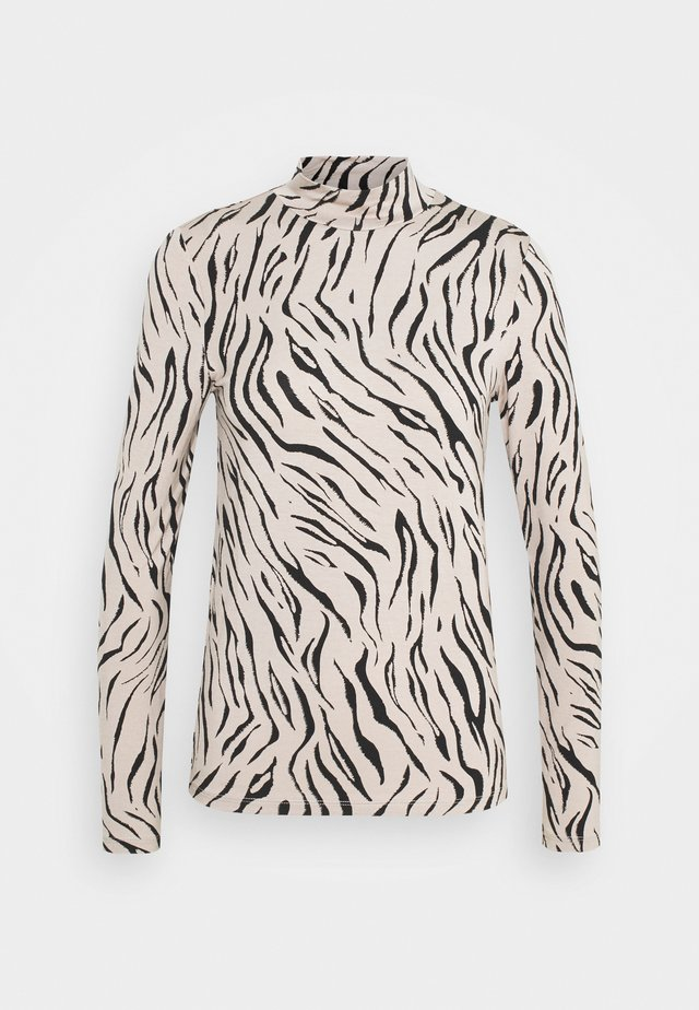 VIBULIS ZEBRA FUNNELNECK - Long sleeved top - simply taupe