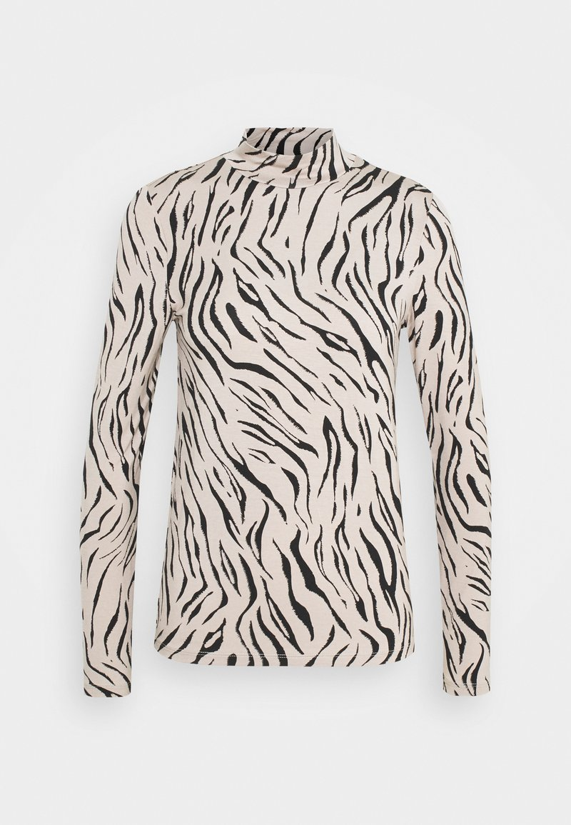 Vila - VIBULIS ZEBRA FUNNELNECK - Long sleeved top - simply taupe