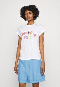 Polo Ralph Lauren - SHORT SLEEVE - Print T-shirt - white - 0