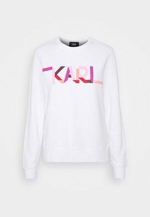 STRIPE LOGO - Sweater - white