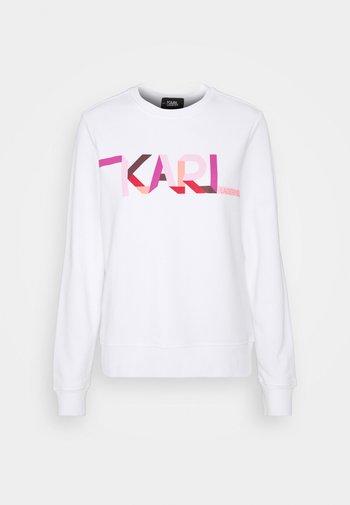 STRIPE LOGO - Sweatshirt - white