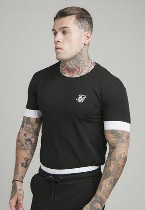 TAPED TECH TEE - Basic T-shirt - black