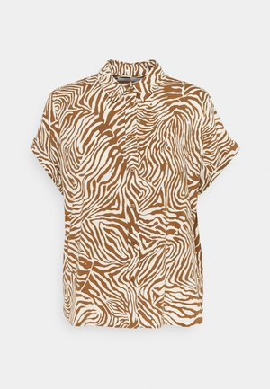 MAJAN - Button-down blouse - mountain zebra