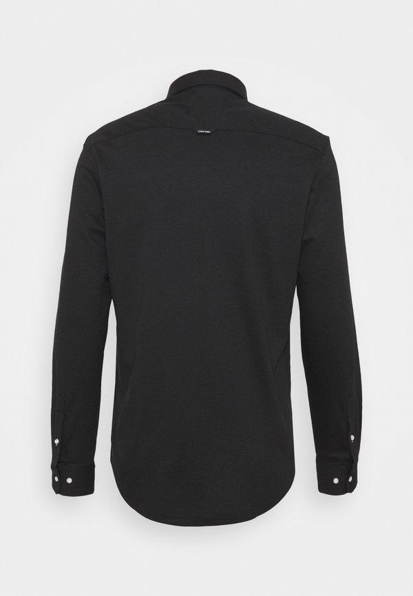 Calvin Klein SLIM FIT - Koszula - black/czarny Odzież Męska UQLE