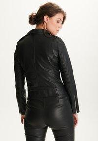 BTFCPH - EMMA - Leather jacket - black silver - 2