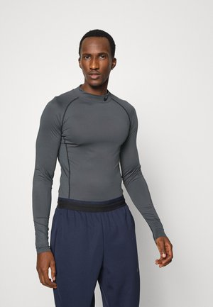 TIGHT MOCK - Sports shirt - iron grey/black