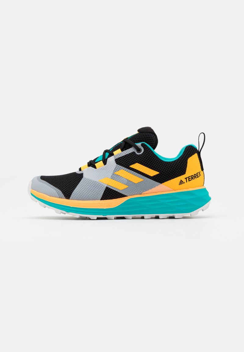 adidas Performance - TERREX TWO LIGHTSTRIKE RUNNING SHOES - Obuwie do biegania Szlak - hi-res aqua/core black/solar gold