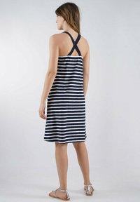 Armor lux - Jersey dress - marine deep/blanc - 1