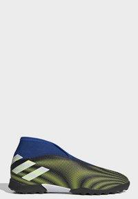adidas Performance - NEMEZIZ.3 LACELESS TF FUSSBALLSCHUH - Astro turf trainers - black - 8