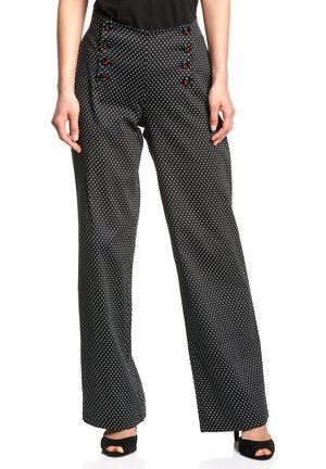 SWEET CHERIES&DOTTIES - Trousers - schwarz allover