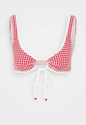 Bikini top - red/off-white