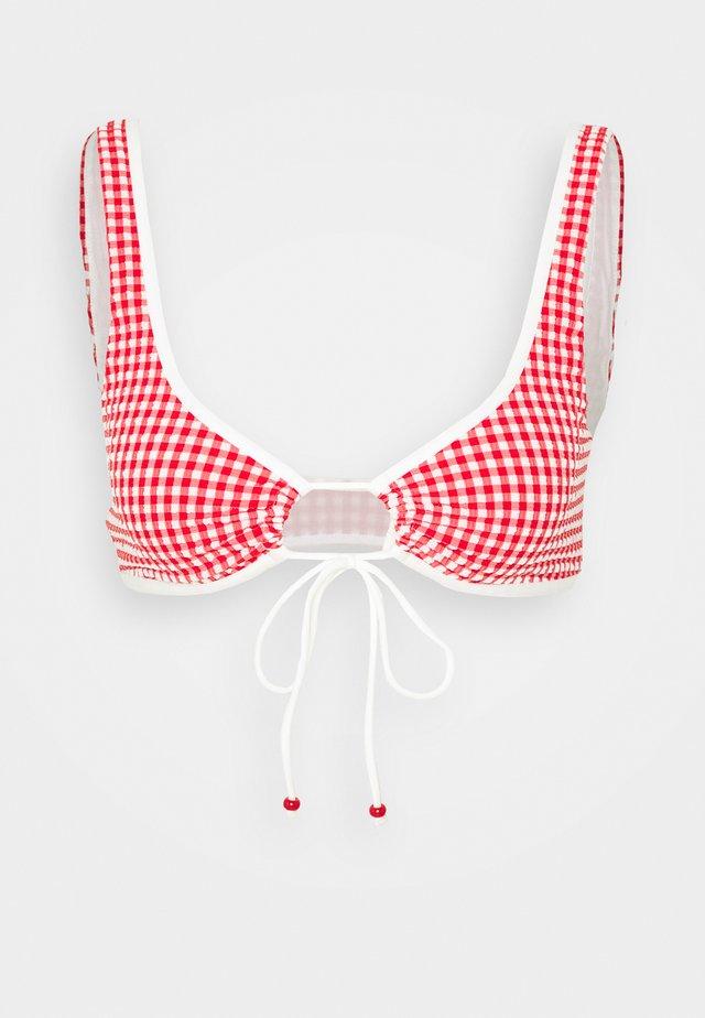 Top de bikini - red/off-white