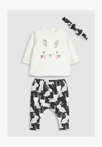 Next - BUNNY THREE PIECE SET - Leggings - Trousers - white/black - 0