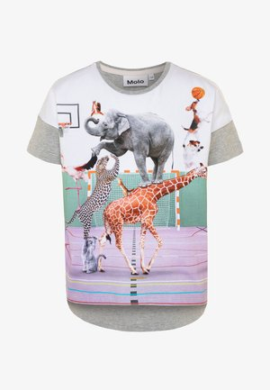 RAEESA - Print T-shirt - mottled grey