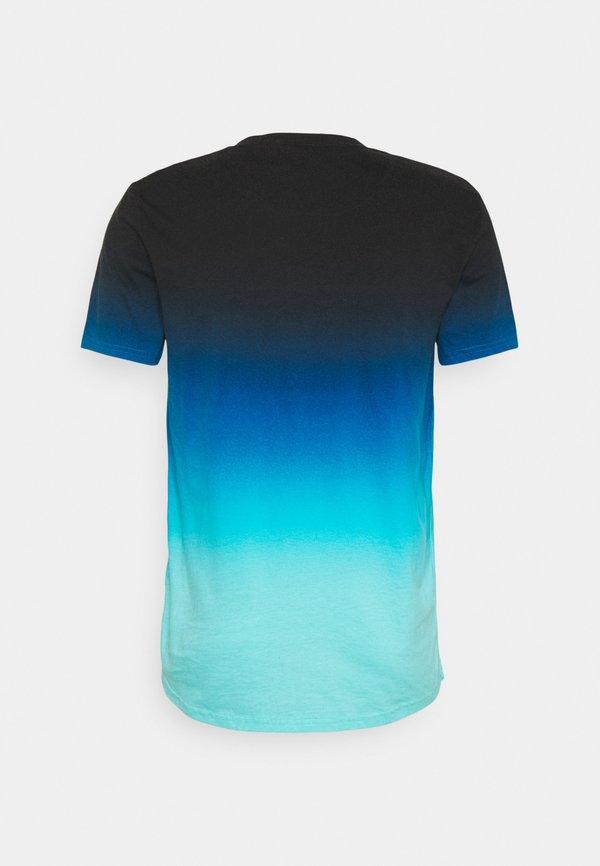 Hollister Co. T-shirt z nadrukiem - navy ombre/jasnoniebieski Odzież Męska MEBU