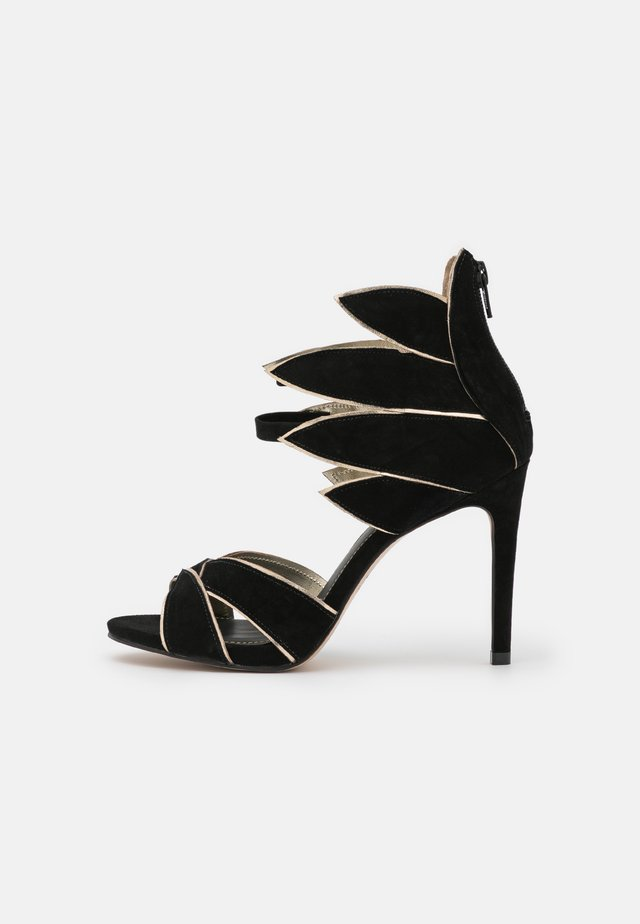 ZALIA - Ankle cuff sandals - noir/or