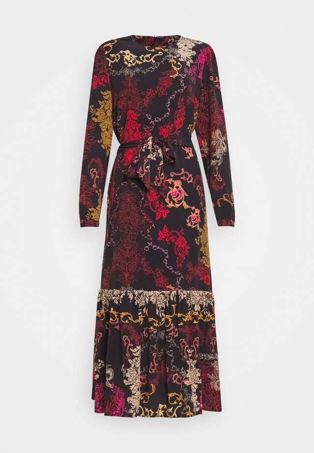 DRESS FLORAL PRINT - Maxi dress - red/black